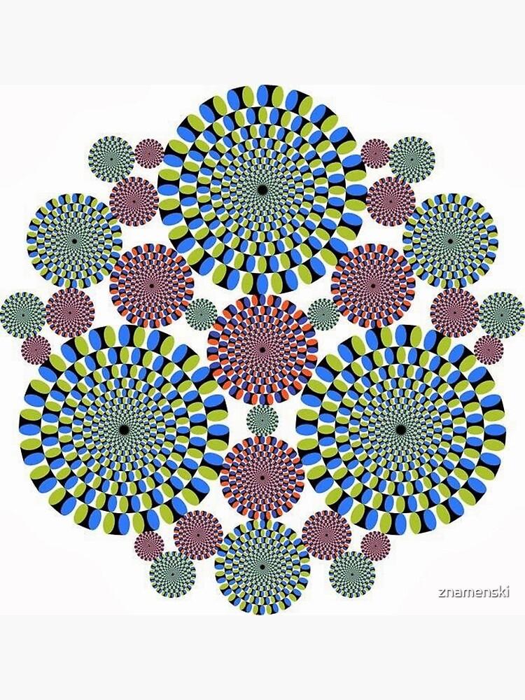 #Optical #Illusion #abstract, decoration, pattern, flower, illustration, #art, vector, #OpticalIllusion by znamenski