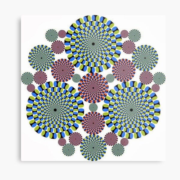 #Optical #Illusion #abstract, decoration, pattern, flower, illustration, #art, vector, #OpticalIllusion Metal Print