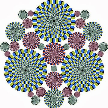 #Optical #Illusion #abstract, decoration, pattern, flower, illustration, #art, vector, #OpticalIllusion by znamenski