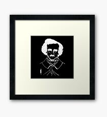 Portrait of American Author and Poet Edgar Allan Poe Framed Print