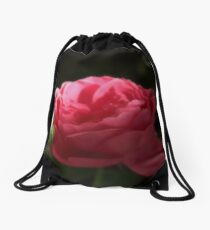 Soft Red Rose In The Evening Light Drawstring Bag