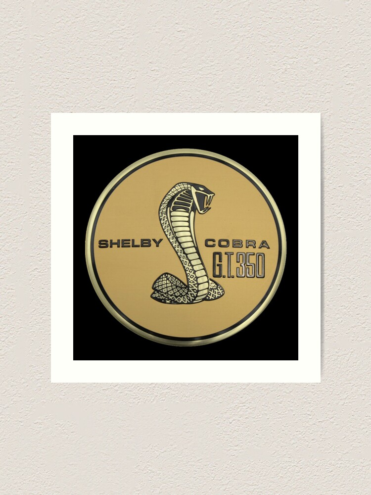 shelby cobra logo art print by danielpedro redbubble redbubble