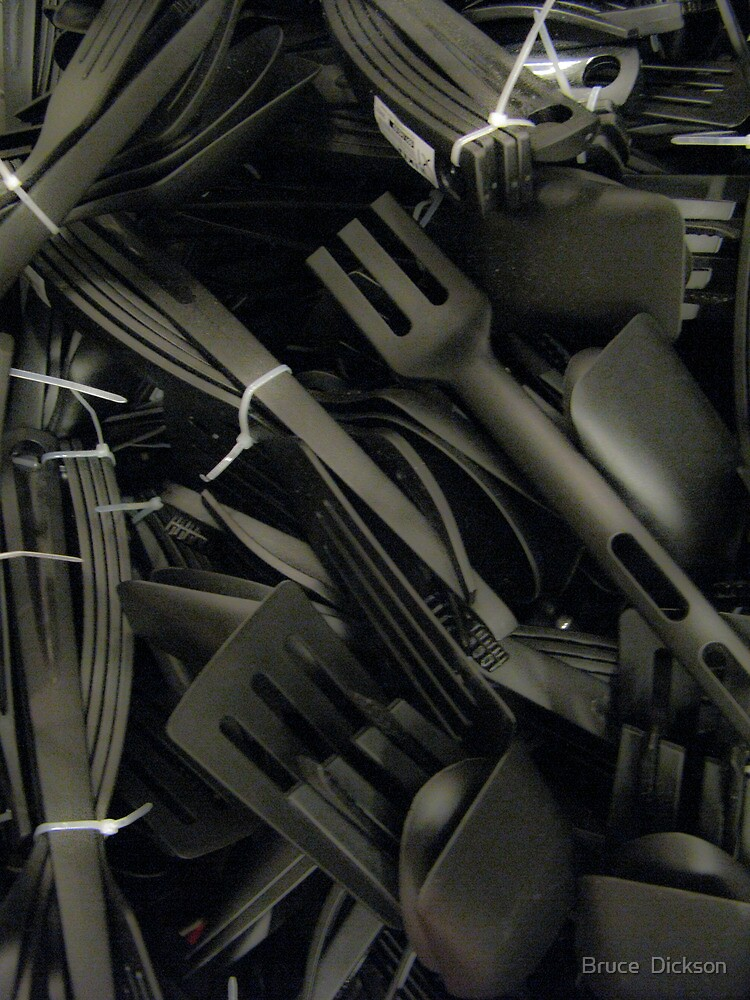 plastics in black by Bruce  Dickson