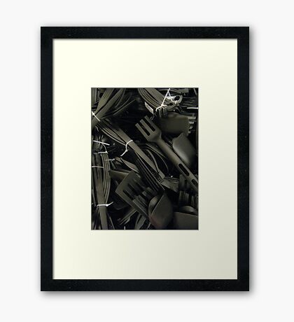 plastics in black Framed Print