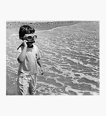 Goggle Man Photographic Print