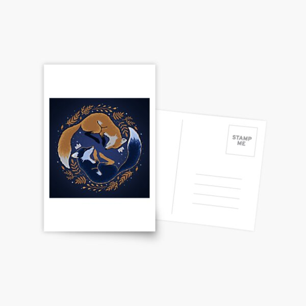 Night foxes Postcard