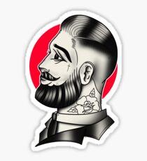 Traditioneller Tätowierungs-Gentleman Sticker