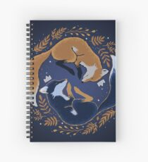 Night foxes Spiral Notebook