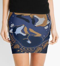 Night foxes Mini Skirt