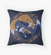 Night foxes Throw Pillow