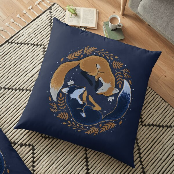Night foxes Floor Pillow