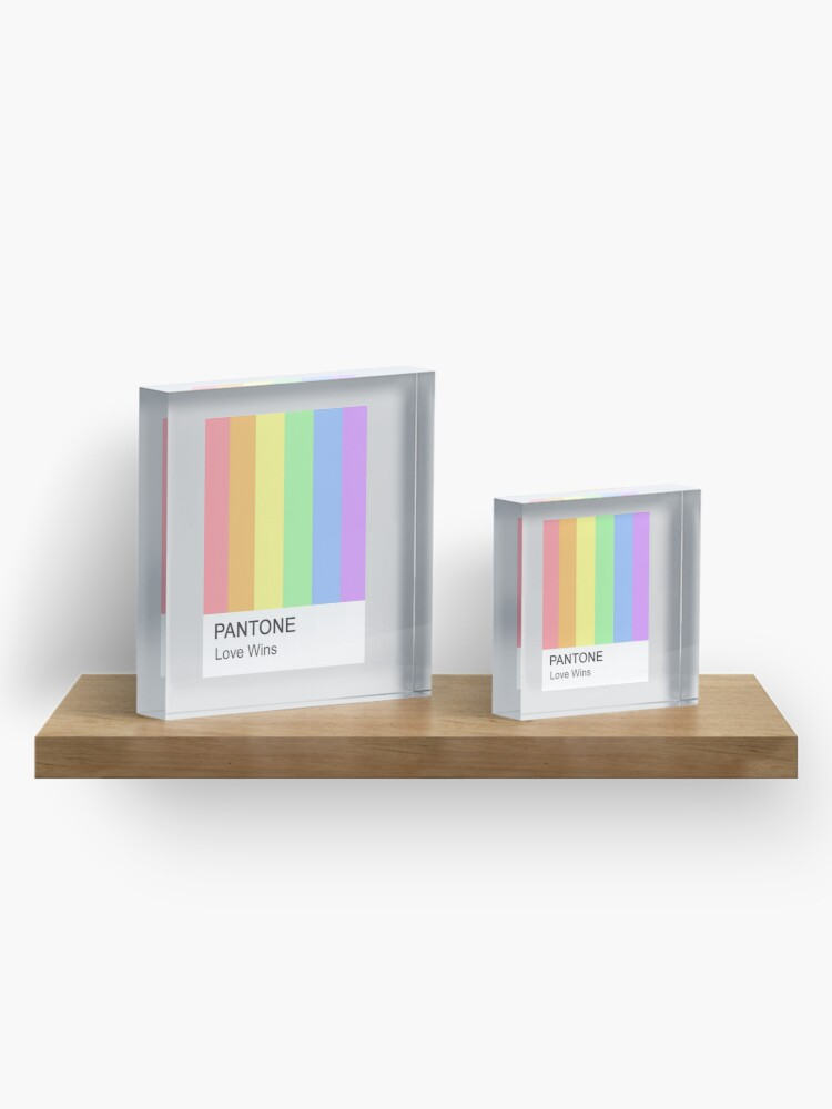 Alternate view of Love Wins Pantone Acrylic Block