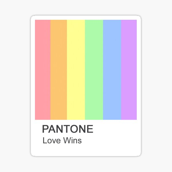 Love Wins Pantone Sticker