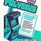 Polybius Arcade Game Machine Cabinet Faux Ad by ivankrpan
