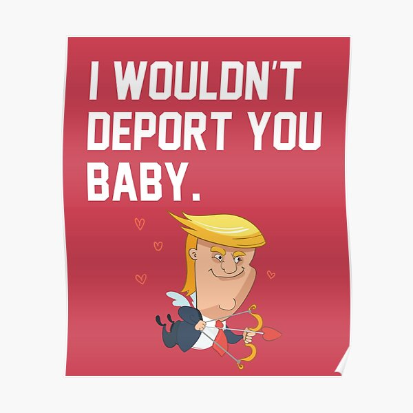 """wink! wink! Collectible Classic Trump Pin /""""I WOULDN/'T DEPORT YOU/"""""""