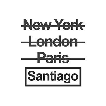 Chile Santiago City Text design by GetItGiftIt