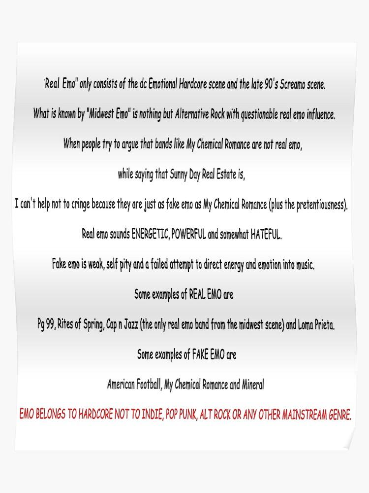 REAL EMO Copypasta | Poster