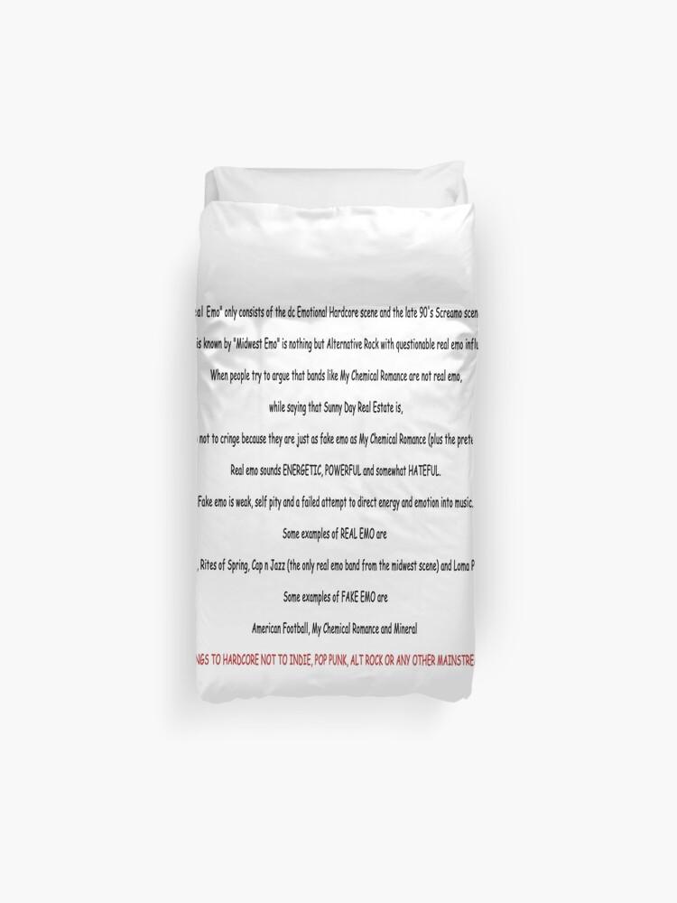 REAL EMO Copypasta | Duvet Cover