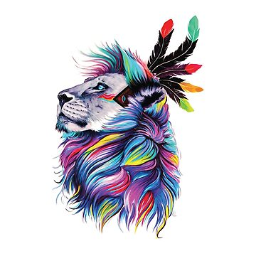 Colorful Lion Face by bza84