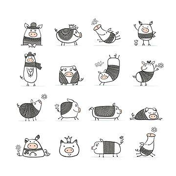Cute piggy by Kudryashka