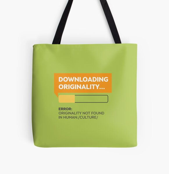 Downloading Originality All Over Print Tote Bag