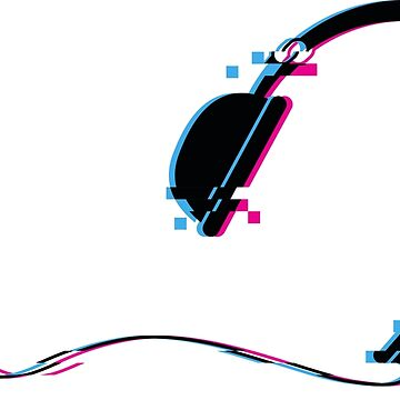Music Headphones Glitch Art by freeves