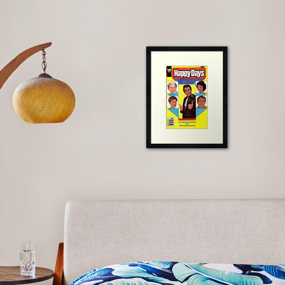 Happy Days Framed Art Print