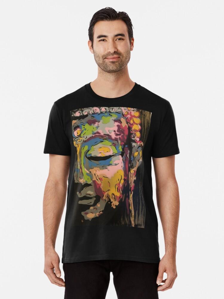 'Colorful Buddha stencil art unique painting' Premium T-Shirt by MoveRama