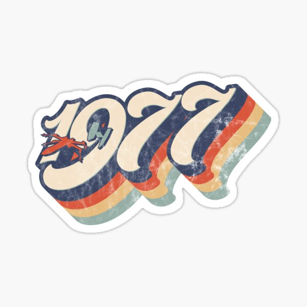 1977 Retro Dog Fight Sticker