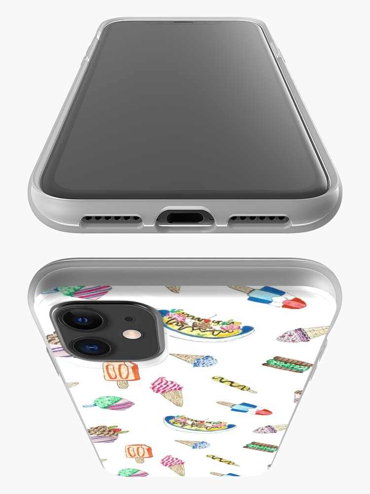 Alternate view of Hand Painted Watercolor Ice Cream - Pattern and Stickers iPhone Case & Cover