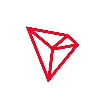 Tron (TRX) Red Logo - Crypto Aesthetics by activeyou