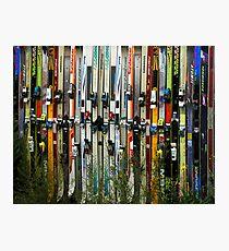 Ski Fence Photographic Print