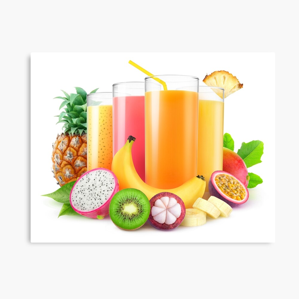 Tropical Juices Poster By 6hands Redbubble