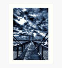 Mystery Bridge Art Print