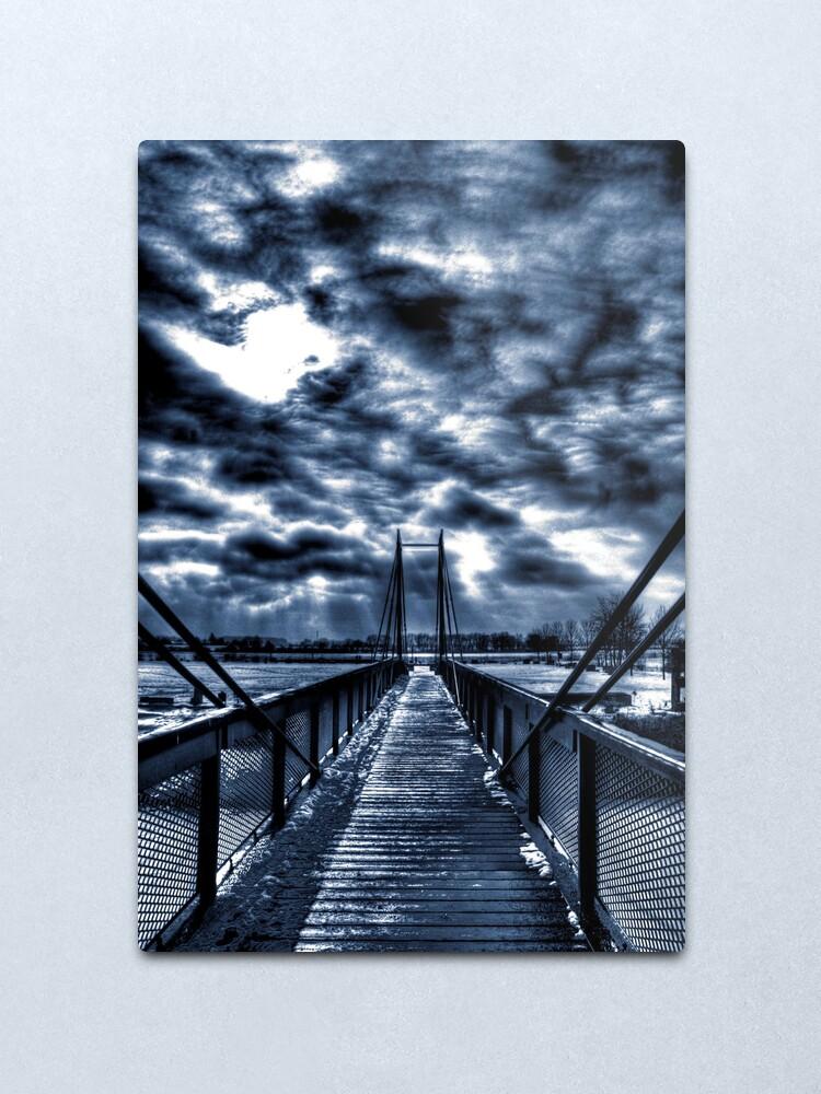 Alternate view of Mystery Bridge Metal Print