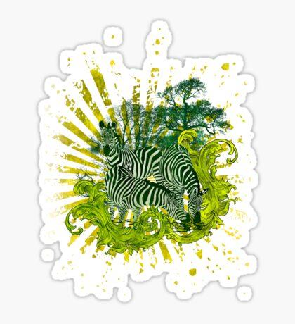 ZEBRA SAFARI Sticker
