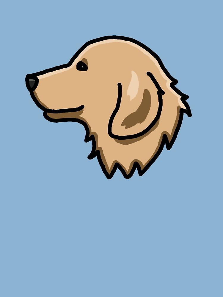 Golden Retriever Dog Cute Drawing Cartoon Kids T Shirt By Nijess Redbubble