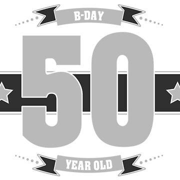 B-day 50 (Light&Darkgrey) by ipiapacs