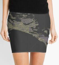 Isometric view of Mallorca map Mini Skirt