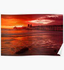Oceanside Pier at Sunset Poster