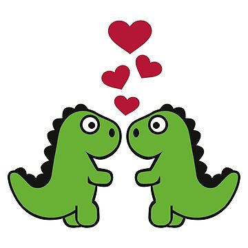 T-Rex dinosaur love hearts by Designzz