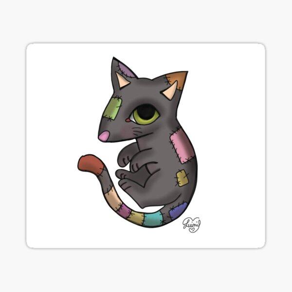 Black Cat puppets Sticker