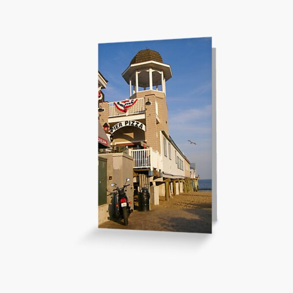 Pizza on the Pier Greeting Card