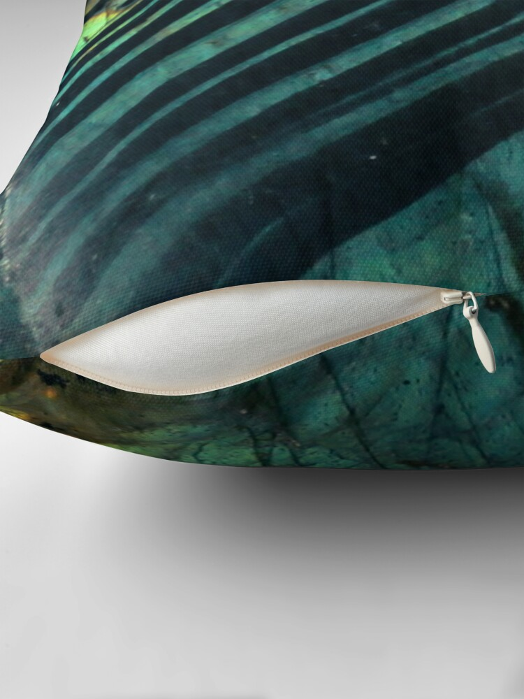 Alternate view of Labradorite crystal geode Throw Pillow