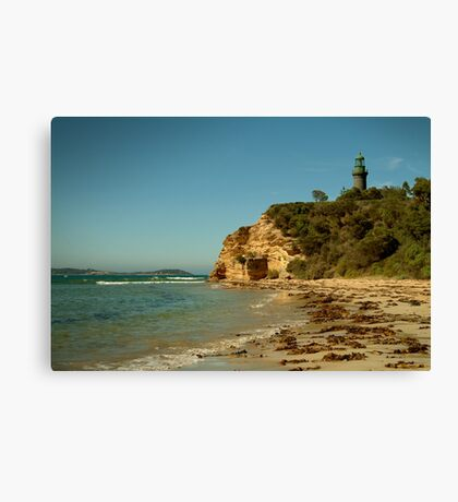 Black Lighthouse,Queenscliff Canvas Print
