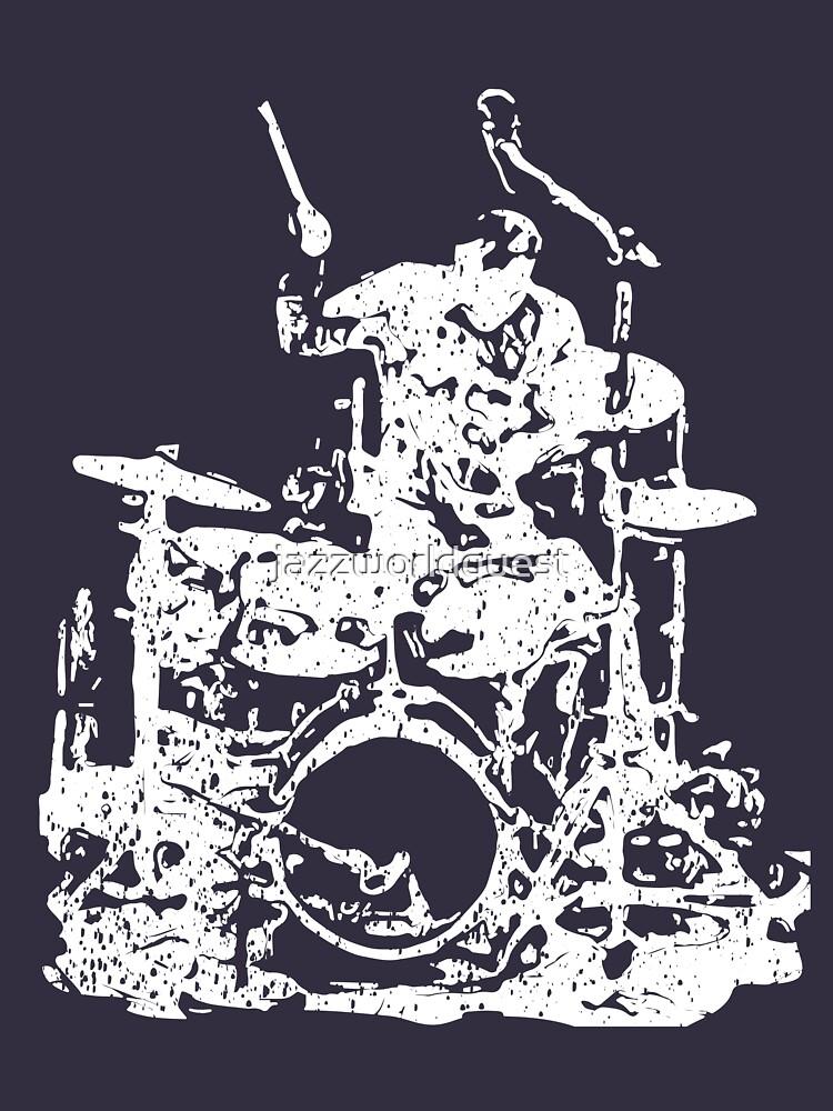 Drummer Musician Grunge Style by jazzworldquest