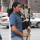 Bagpiper in San Antonio by Susan Russell