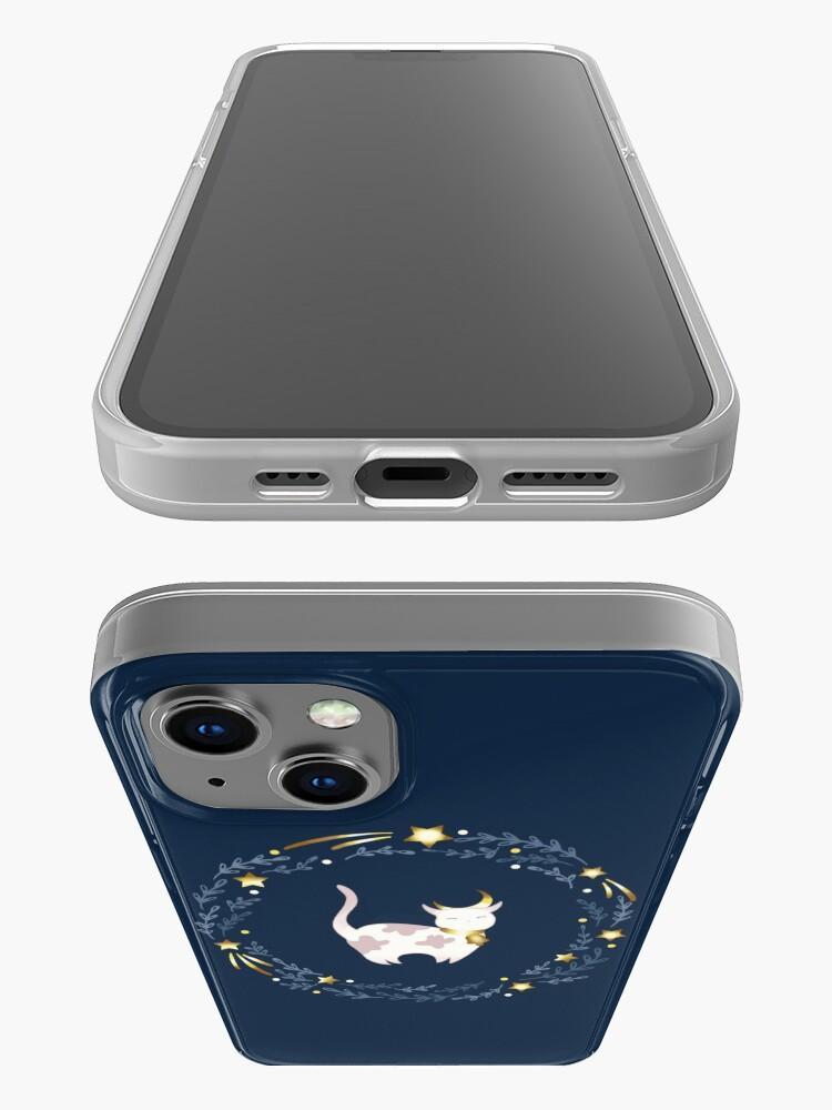 Alternate view of Zodiac cat - Taurus iPhone Case
