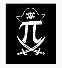 Pi-rate Shirt | Pirate Hat Sword Sign Gift Photographic Print