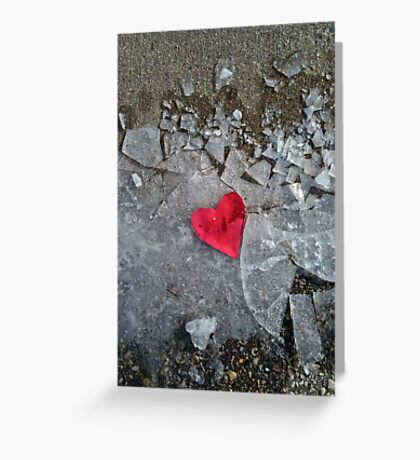 Trampled Heart Greeting Card